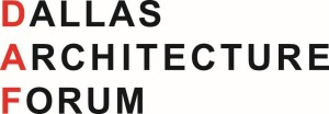 Logo--Dallas Architecture Forum --Red and Black (2)